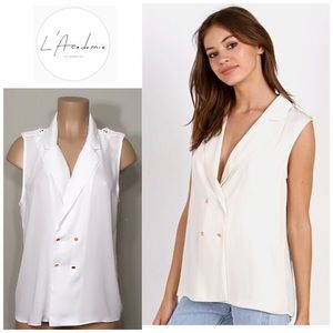 L 'Academie Tops - New. Ivory military top. NWT